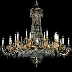 33 Light Strass Crystal & Brass Chandelier - Martinez Y Orts-Luxury Lighting Boutique