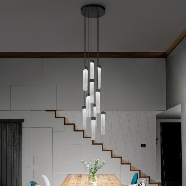 Modern 10 Light Suspension Pendant - Masiero Blake C10 Suspension-Luxury Lighting Boutique