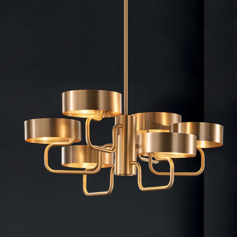 Modern 6 Light Chandelier - Masiero Sound S6-Luxury Lighting Boutique