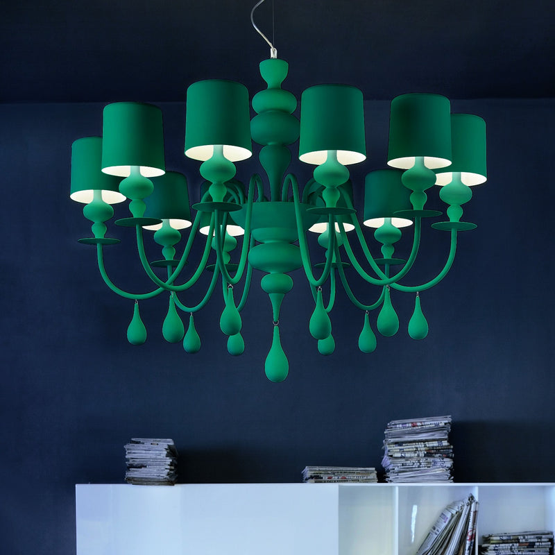 Modern 10 Light Chandelier - Masiero Eva S10-Luxury Lighting Boutique