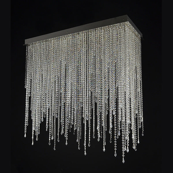 13 Light Crystal Chandelier - Fringe-Luxury Lighting Boutique