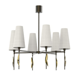 Leaf Fall 6 Light Chandelier - Villa Lumi