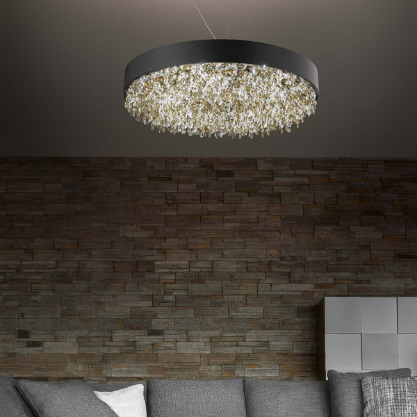 Modern 8 Light Suspended Oval Pendant - Masiero Ova S6 90-Luxury Lighting Boutique