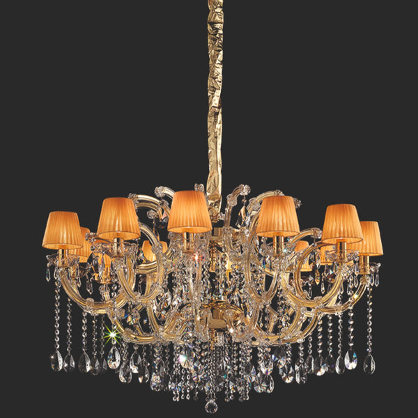12 Light Maria Theresa Chandelier - Masiero VE 981/12 MT-Luxury Lighting Boutique
