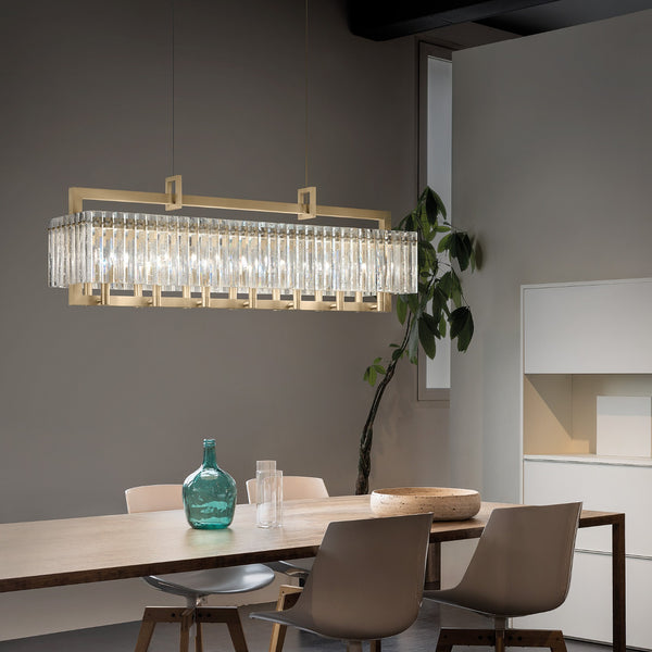 10 Light Modern Suspension Chandelier - Masiero Crek Suspension 10