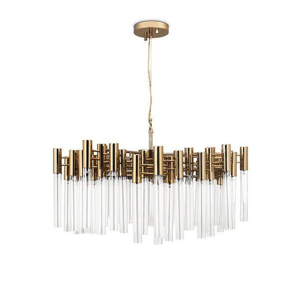54 Light Burj Suspension Chandelier - Luxxu-Luxury Lighting Boutique