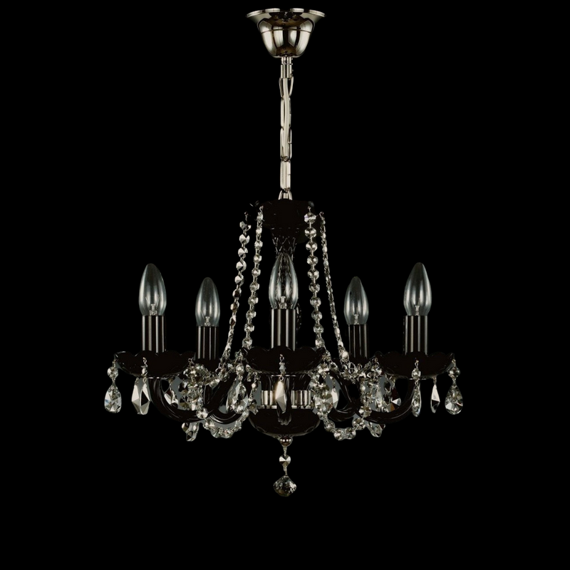 5 Light Crystal Chandelier - Aplomb-Luxury Lighting Boutique