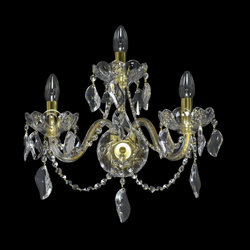 3 Arm Crystal Wall Light - Aristocracy-Luxury Lighting Boutique