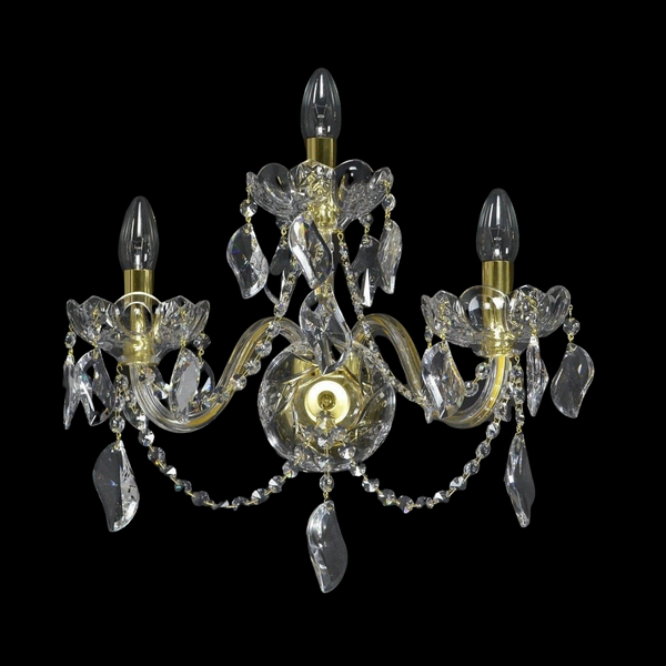 Aristocracy - 3 Arm Crystal Wall Light