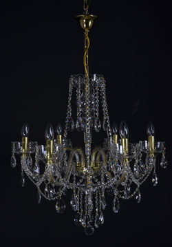 Celestial - 6 arm crystal chandelier