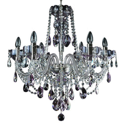 6 Light Crystal Chandelier - Celestial-Luxury Lighting Boutique
