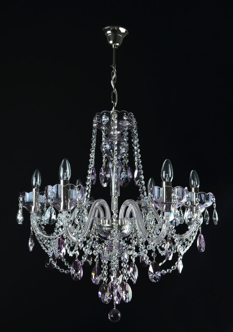 Celestial- 6 arm crystal chandelier
