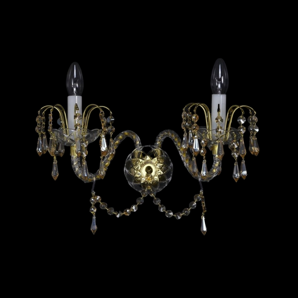 Ceremonial - 2 Arm Crystal Wall Light