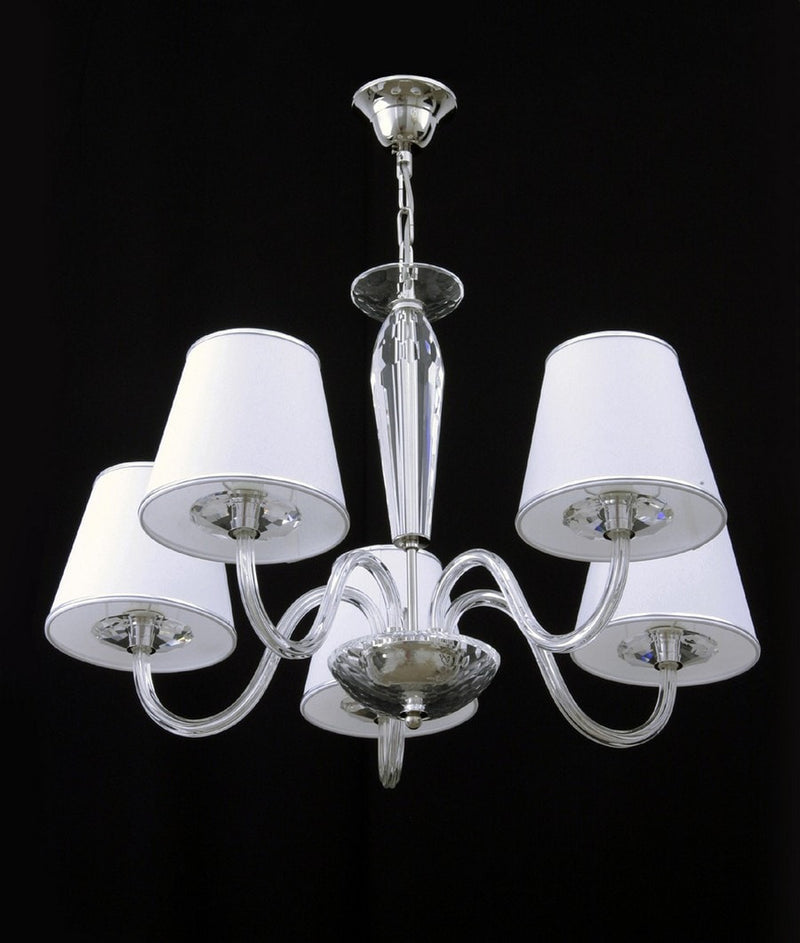 Contempo - 5 arm crystal ceiling light