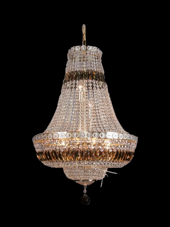 9 Light Crystal Basket Chandelier - Traditional-Luxury Lighting Boutique