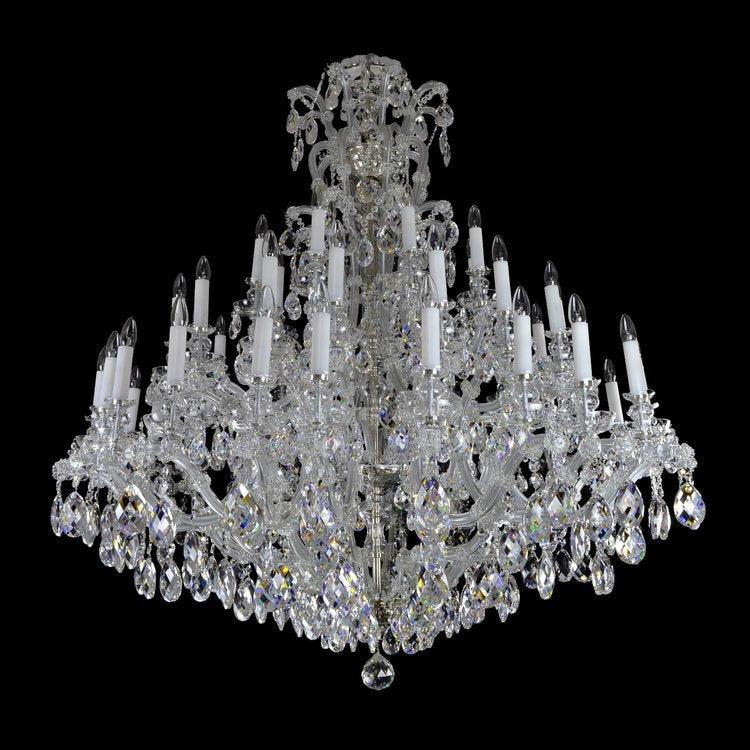 48 Light Tall Crystal Chandelier - Maria Theresa-Luxury Lighting Boutique