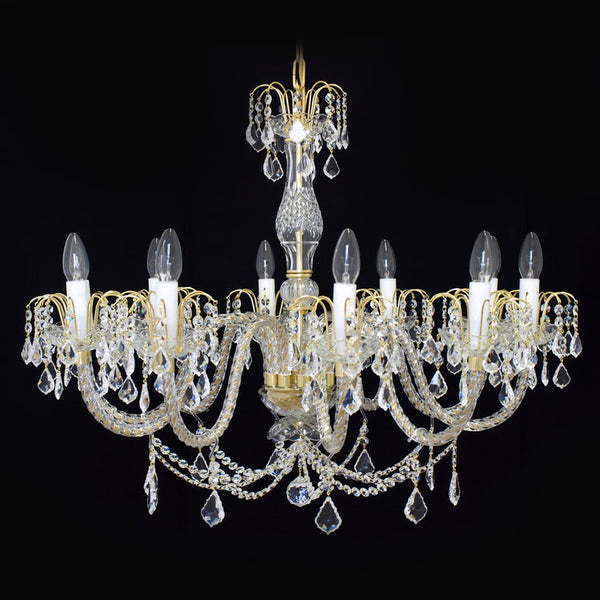 10 Light Crystal Chandelier - Ceremonial