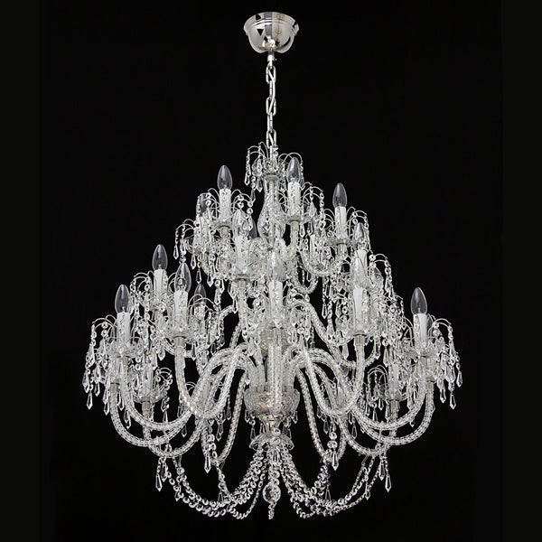 24 Light Crystal Chandelier - Ceremonial-Luxury Lighting Boutique