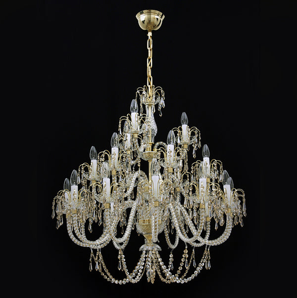 21 Light Crystal Chandelier - Ceremonial-Luxury Lighting Boutique