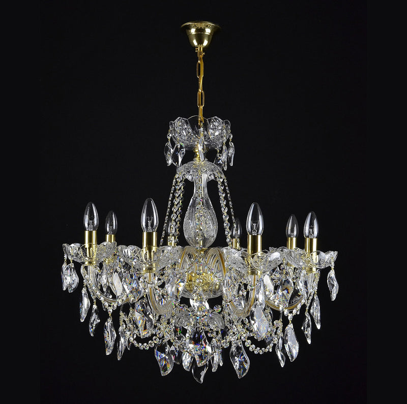 8 Light Crystal Chandelier - Aristocracy-Luxury Lighting Boutique