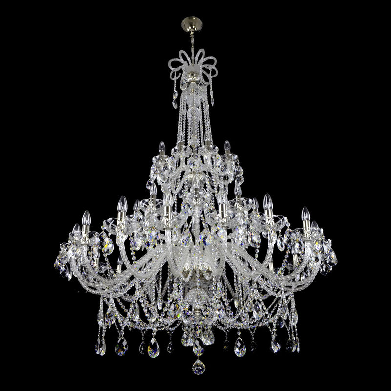 36 Light Crystal Chandelier - Traditional-Luxury Lighting Boutique