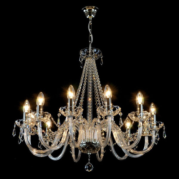 12 Light Crystal Chandelier - Bolan-Luxury Lighting Boutique