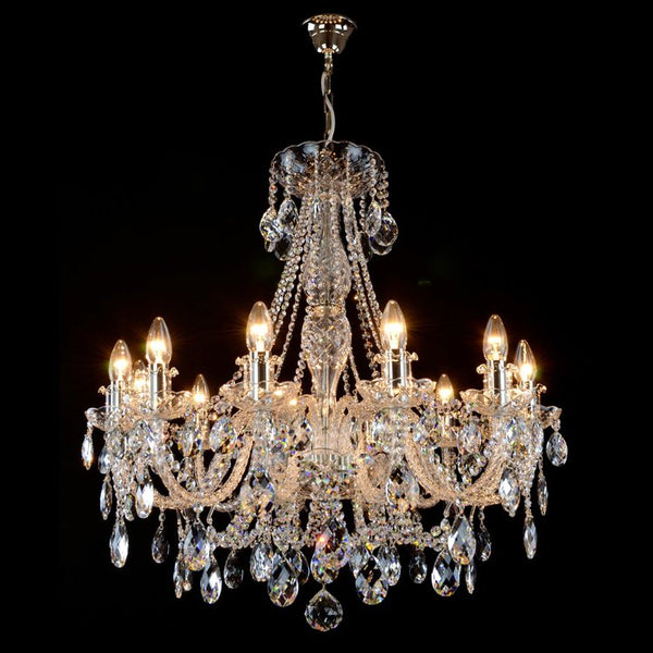 12 Light Swarovski Crystal Chandelier - Majestic-Luxury Lighting Boutique