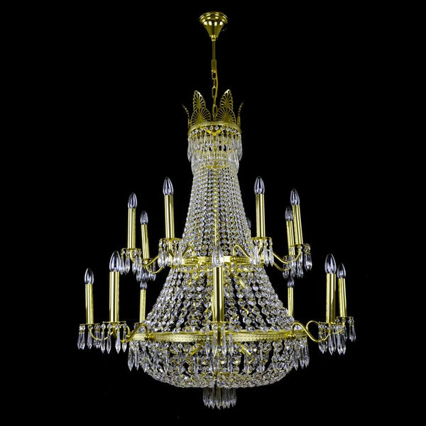 24 Light Crystal Basket Chandelier - Austra-Luxury Lighting Boutique