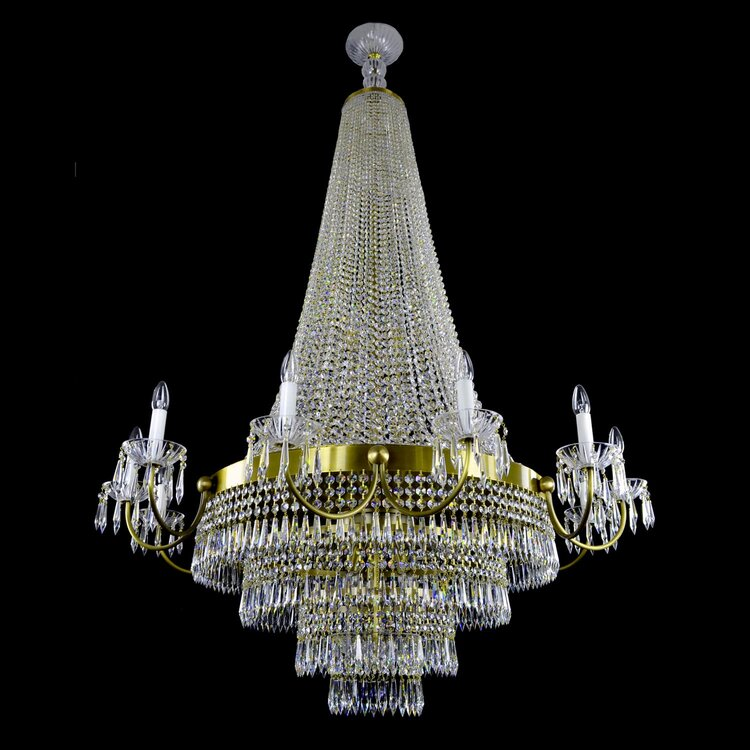 27 Light Crystal Basket Chandelier - Empire-Luxury Lighting Boutique