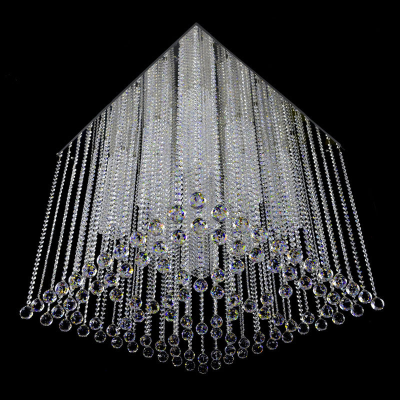 9 Light Ceiling Mounted Crystal Chandelier - Decar