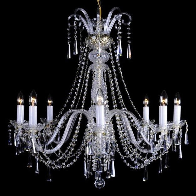 Crystal 8 arm chandelier