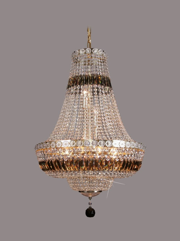basket crystal chandelier - 9 light