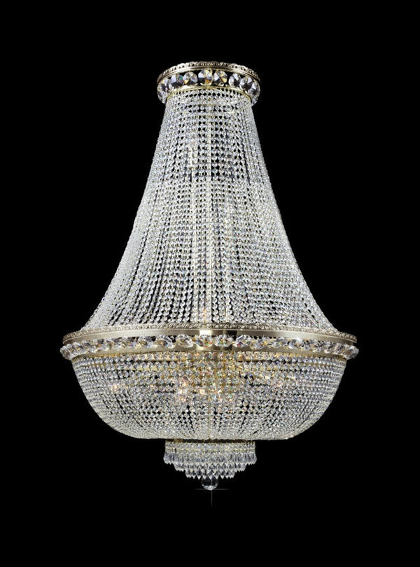 basket crystal chandelier - 15 light