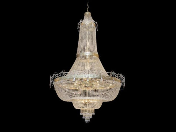 basket crystal chandelier - 48 light