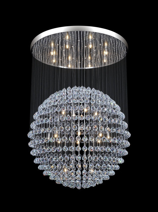 Modern Crystal Sphere Chandelier - 24 Light