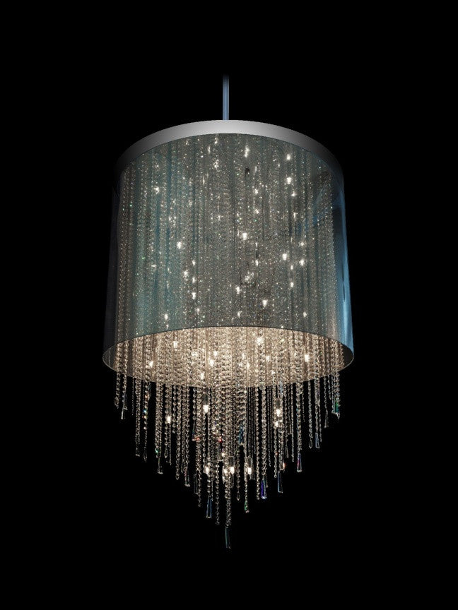 Transparent Crystal Drum Shade