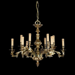 12 Light Brass Chandelier - Martinez Y Orts-Luxury Lighting Boutique