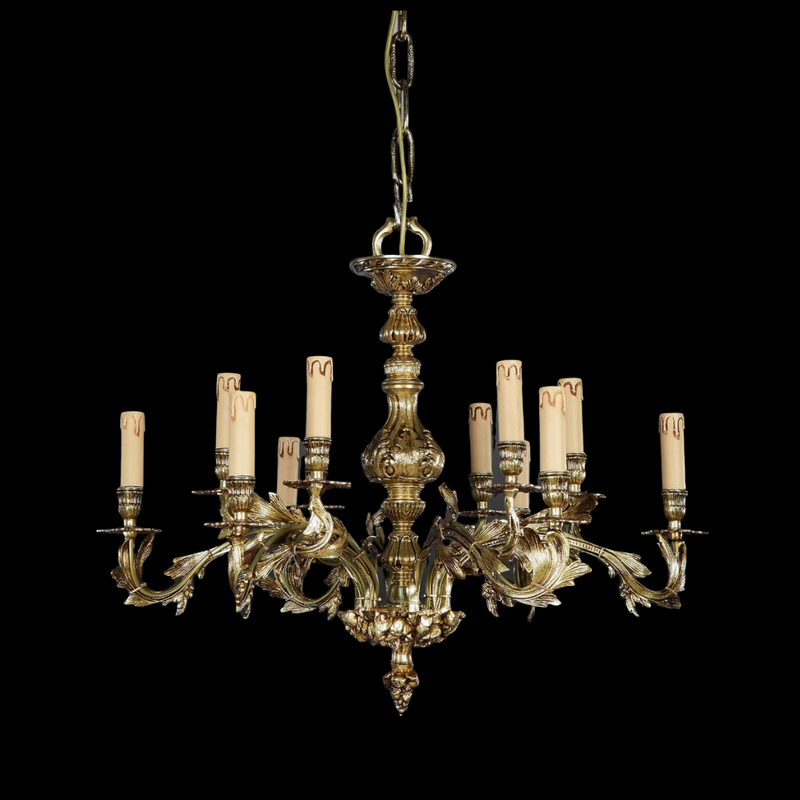 Martinez Y Orts - 12 Light Brass Chandelier