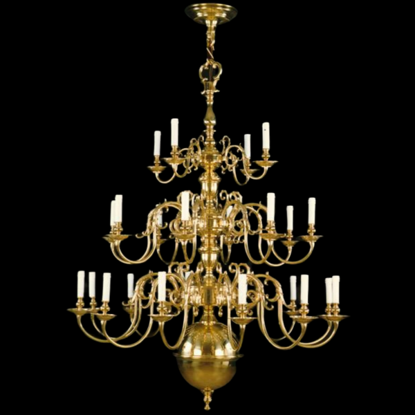 24 Light Brass Flemish Chandelier - Martinez Y Orts-Luxury Lighting Boutique