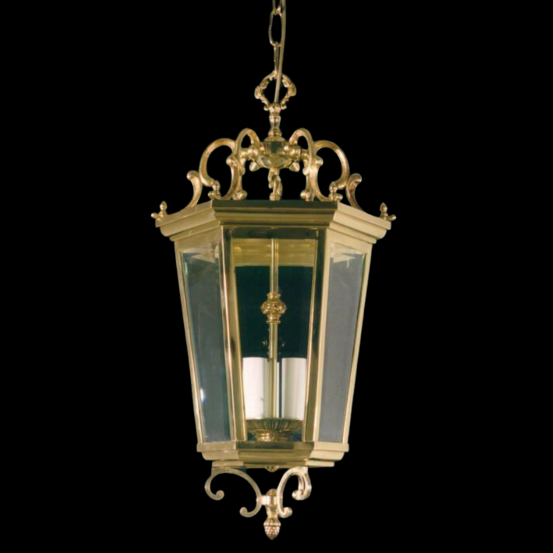9 Light Gold Hall Lantern - Martinez Y Orts-Luxury Lighting Boutique