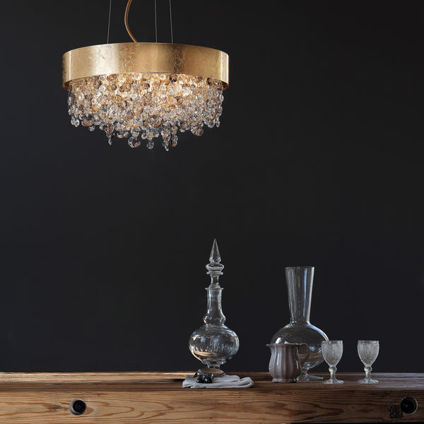 Modern 6 Light Suspended Oval Pendant - Masiero Ova S6 60/40-Luxury Lighting Boutique