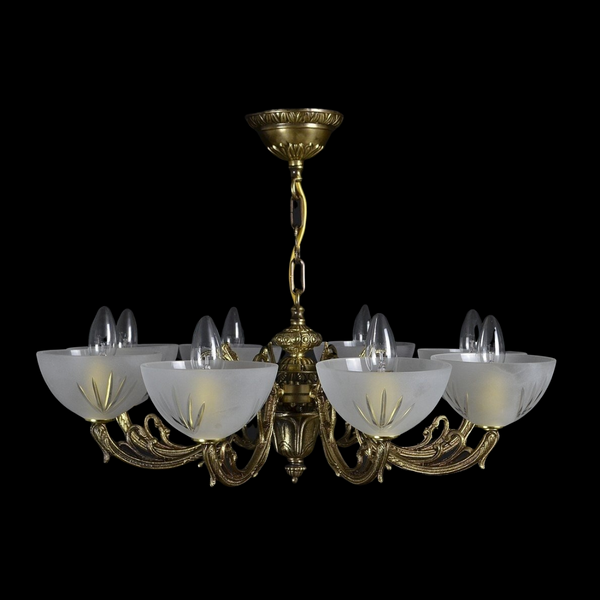 8 Light Brass Chandelier - Strata-Luxury Lighting Boutique