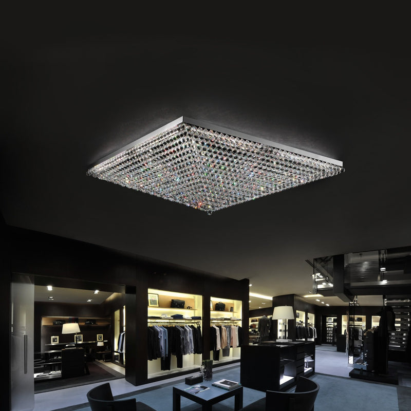4 Light Crystal Pendant Chandelier - Masiero VE809/PL4-Luxury Lighting Boutique