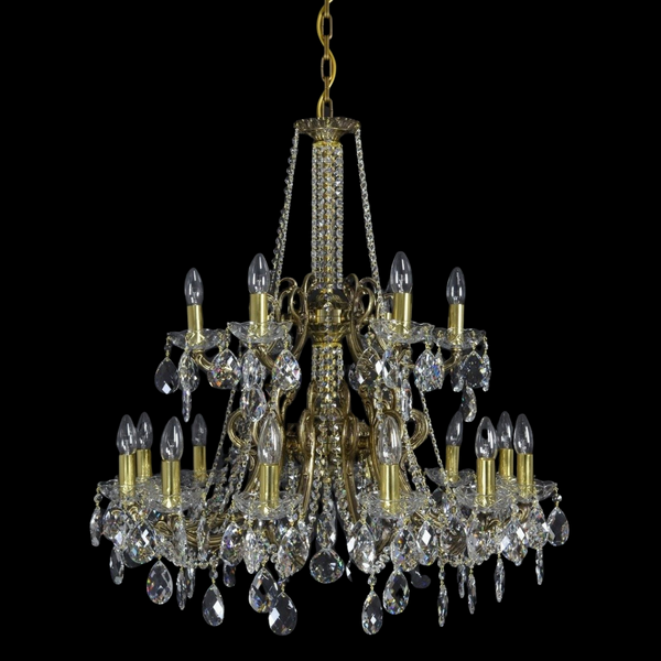 Zodiac - 18 Arm Brass Chandelier