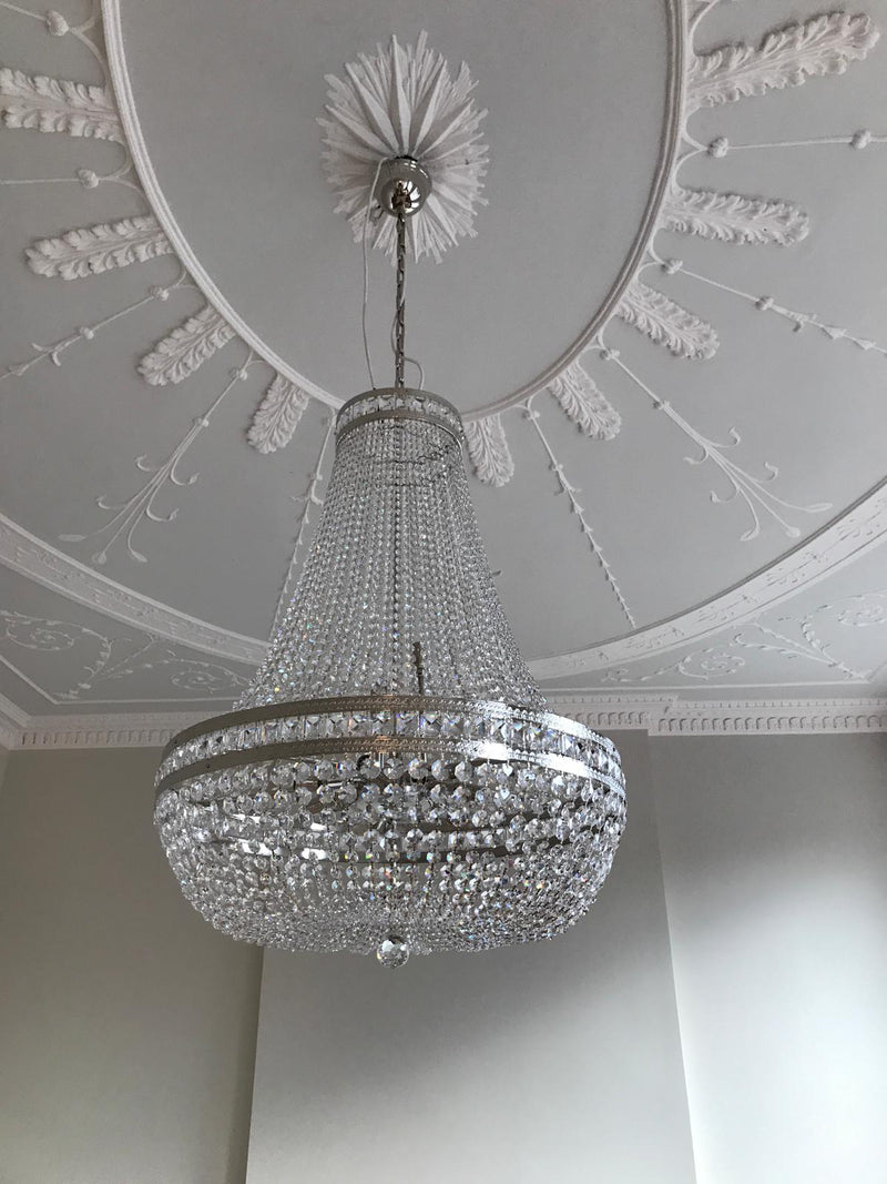 15 Light Crystal Basket Chandelier - Gothenburg