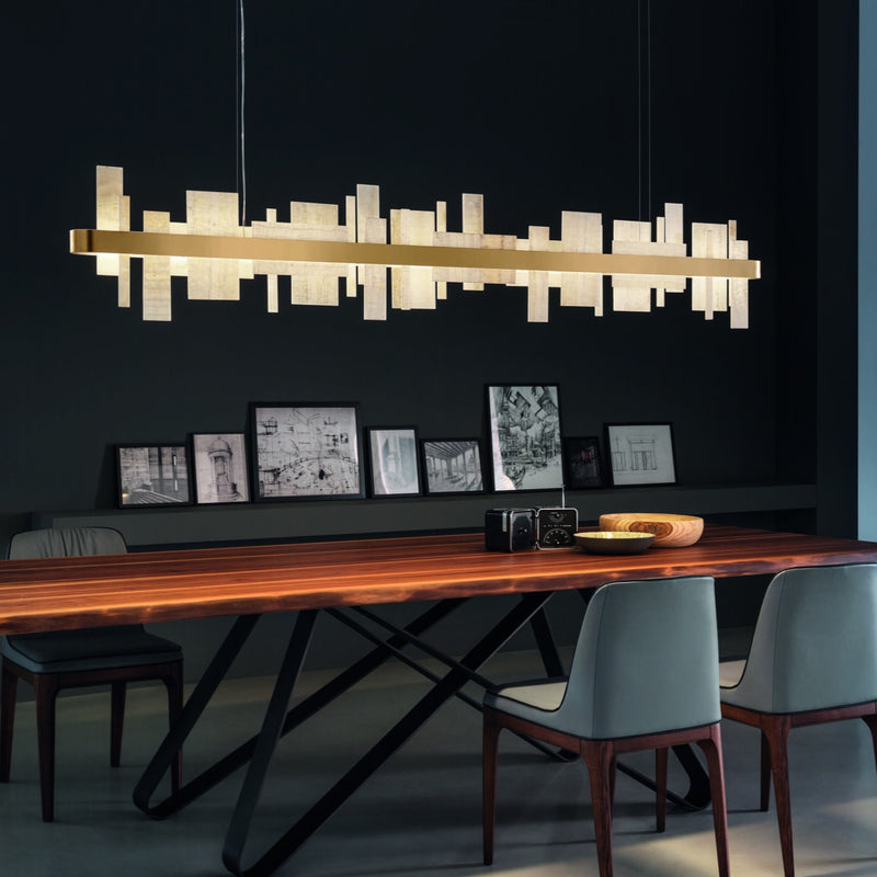 Modern Long Suspended Pendant - Masiero Honice S150-Luxury Lighting Boutique
