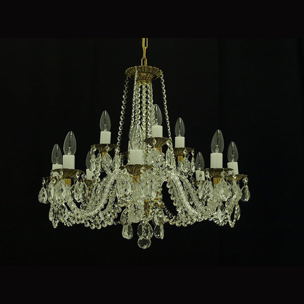 12 Light Crystal Chandelier - Spectrum-Luxury Lighting Boutique