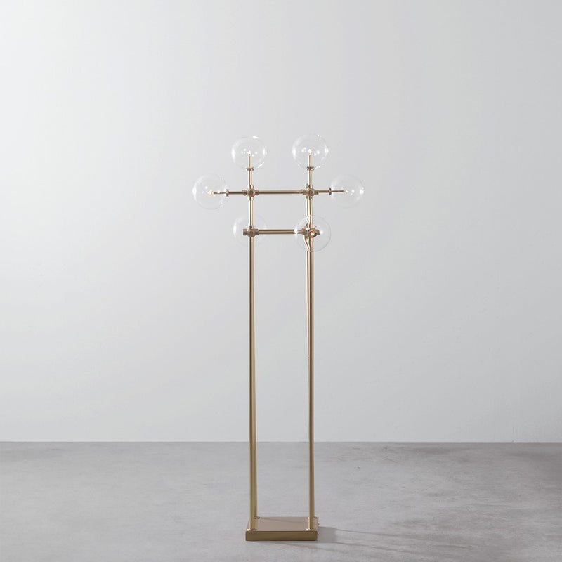 Soap Brass Floor Lamp - Schwung-Luxury Lighting Boutique