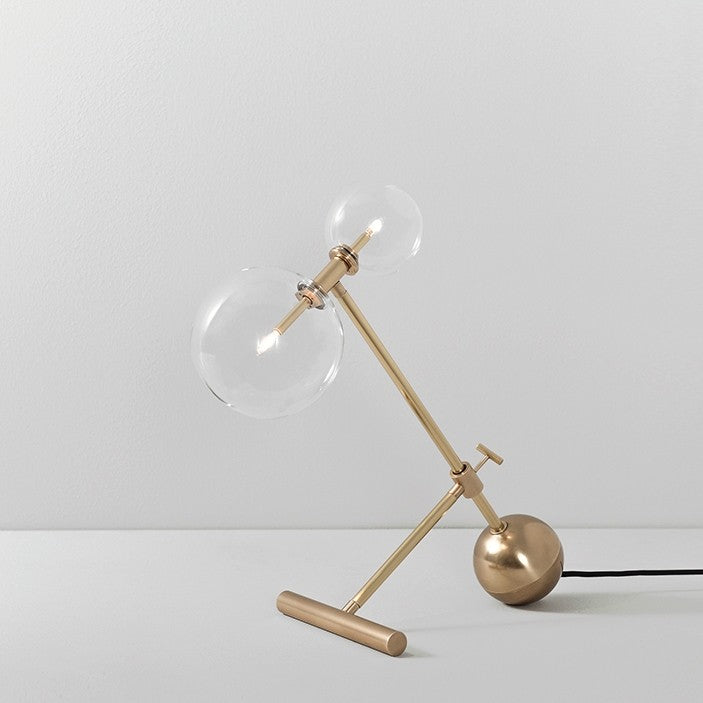 Zosia Brass Table Lamp - Schwung-Luxury Lighting Boutique
