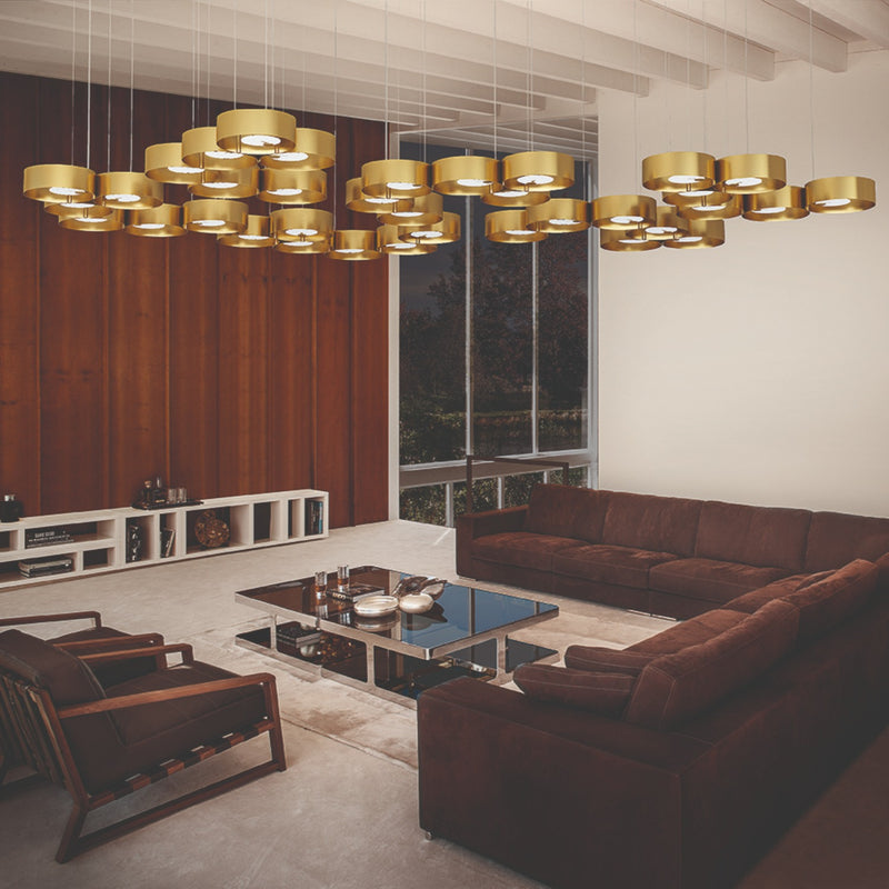 Modern 3 Light Suspended Pendant - Masiero Sound OR3-Luxury Lighting Boutique